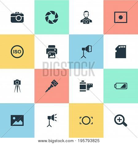 Vector Illustration Set Of Simple Photography Icons