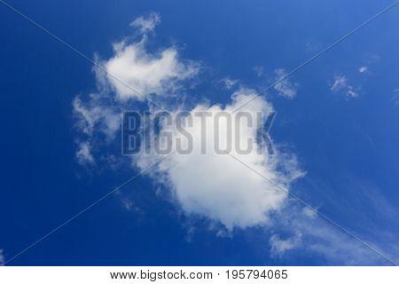 nice summer clouds in blue sky