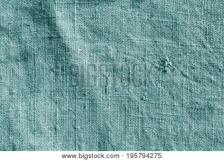 Cyan Color Hessian Sack Cloth Pattern.