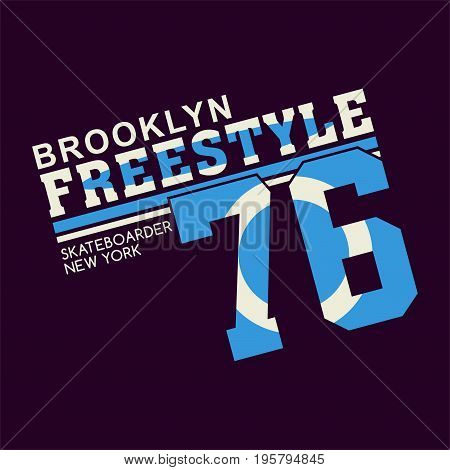 graphic design BROOKLYN FREESTYLE for shirt and print