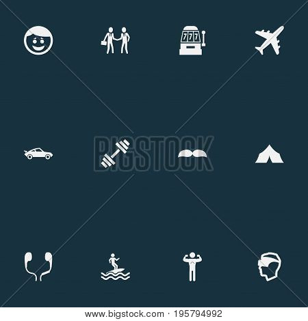 Vector Illustration Set Of Simple Yoga Icons