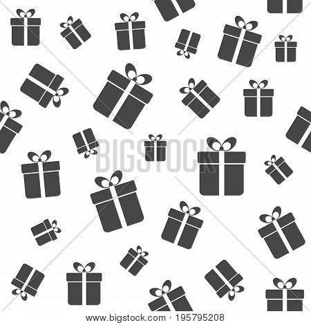 Gift boxes seamless pattern. Vector minimal background for greeting card design, wrapping paper