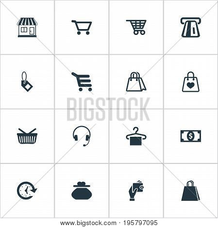 Vector Illustration Set Of Simple Money Icons