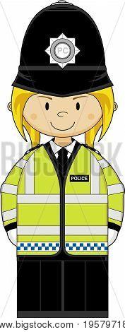 Cute Hi-vis Policewoman
