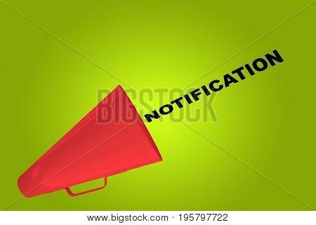 Notification - Communication Oncept