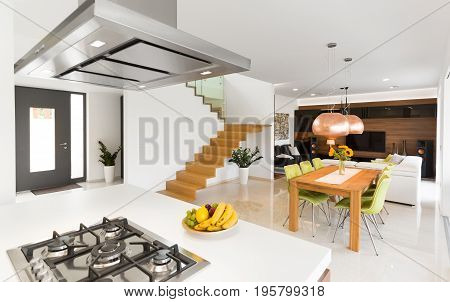 Open Space With Wooden Stairs