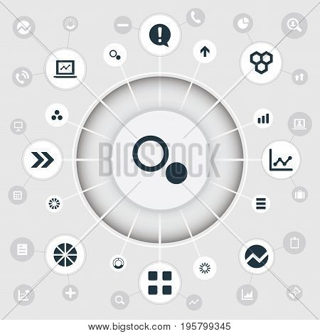 Vector Illustration Set Of Simple Graph Icons