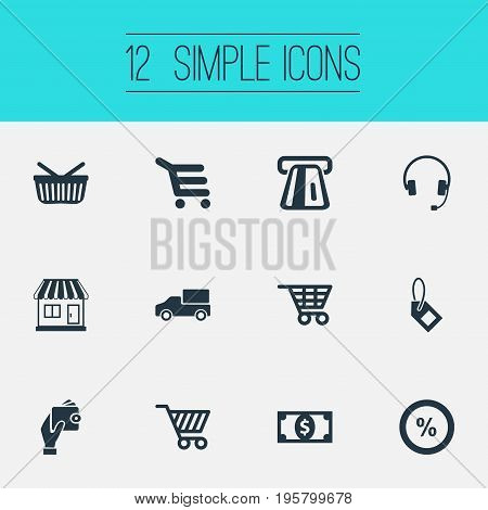 Vector Illustration Set Of Simple Sale Icons