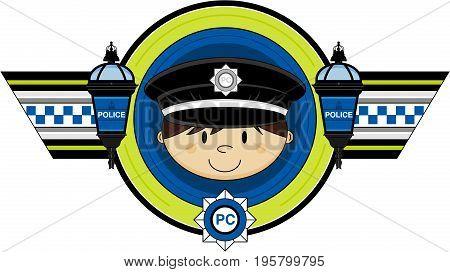 Cute Policeman Badge.eps
