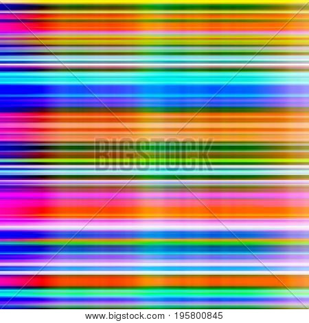 Graduated vibrant colours blur stripes abstract background.
