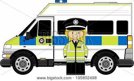 Cute Policewoman & Van