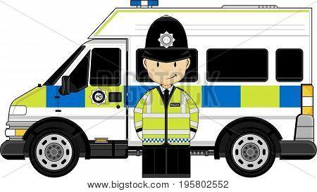 Hi-vis Policeman & Van