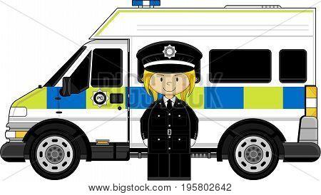 Little Policewoman & Van
