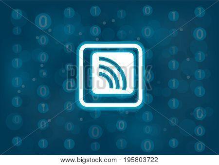 Wireless sensor concept as vector illustration background