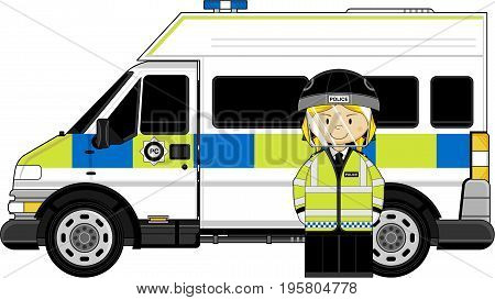 Riot Policewoman & Van