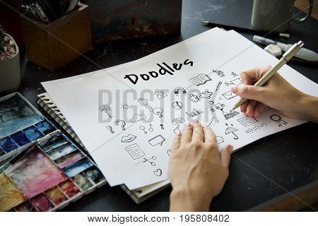 Doodles Art Creative Design Icon Vector Graphic Illustration