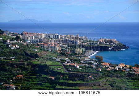 The town of Ponda Delgado on the island of Sao Miguel Azores