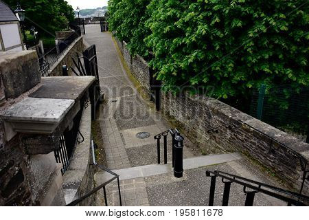 Part of the Derry Wall around Londonderry Northern Ireland