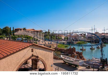 Salou, Spain - June 3, 2013: The famous amusement park Port Aventura in Salou, near Barcelona