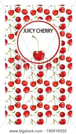 Cherry illustration on a white background.