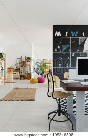 Modern friendly office with colorful relax lounge