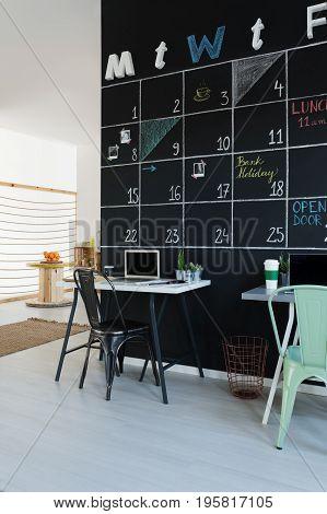 Workspace Next To Blackboard