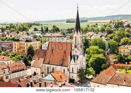Famous Melk Abbey On Danube River In Lower Austria