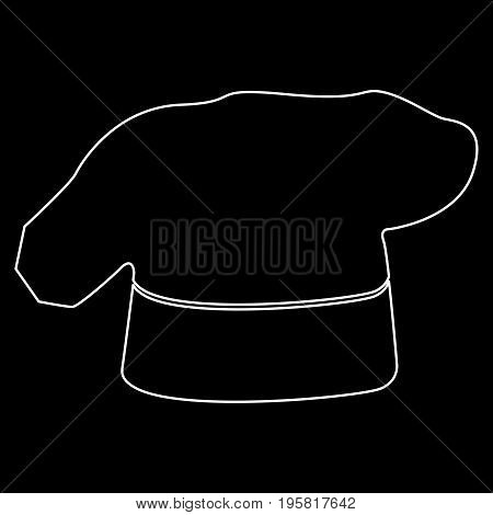 Chef Cooking Hat White Color Path  Icon .