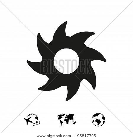 circular saw icon stock vector illustration flat design
