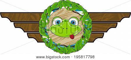 Cute Frog Plaque