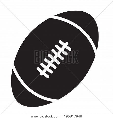 rugby ball icon on white background. rugby ball sign. flat style design.