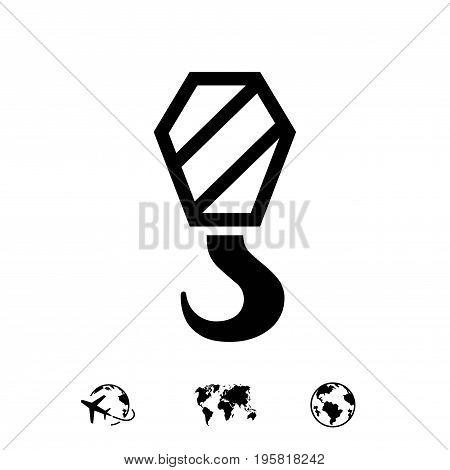 crane icon stock vector illustration flat design