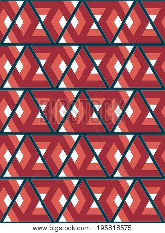 Modern background with cool triangular shapes pattern and lots of pretty colors 3d rendering