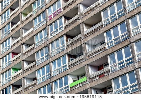 Dilapidated Council Flat Housing Block, Balfron Tower