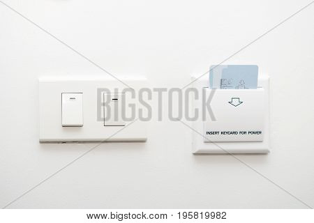 Keycard Insert To Power Switch Control