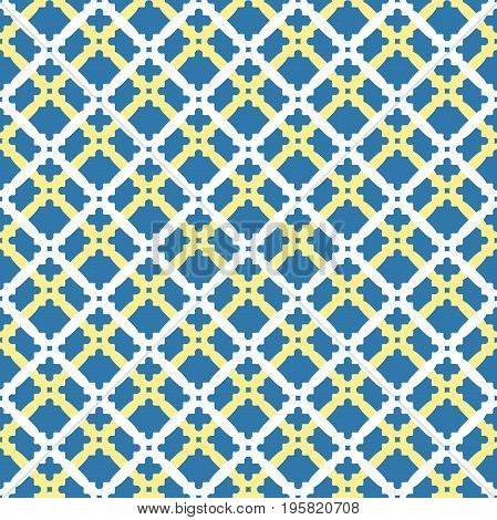 Seamless vector colored ornament in arabian style. Geometric abstract background. Pattern for wallpapers and backgrounds