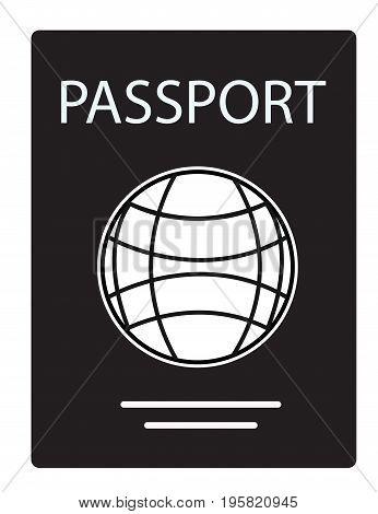 passport icon on white background. passport sign. flat style design. passport symbol.