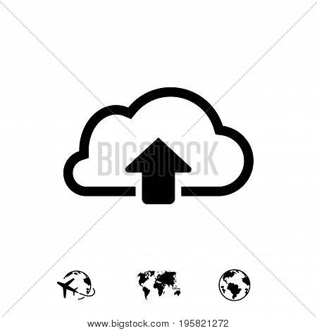 cloud upload icon stock vector illustration flat design