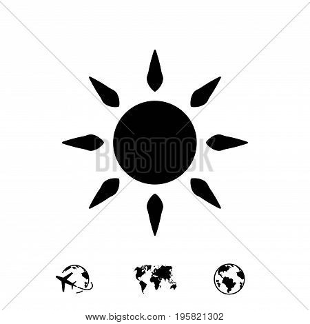 sun icon stock vector illustration flat design