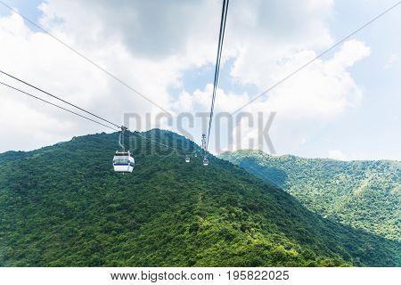 Hong kong cable car to ngong ping lantau island