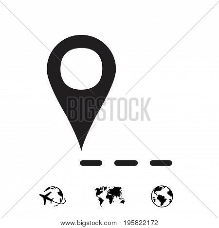 label for map icon stock vector illustration flat design