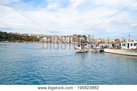 CHALCIS EUBOEA GREECE, JULY 28 2016: landscape of Chalcis Euboea Greece. Editorial use.