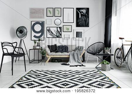 Patterned Carpet In Room