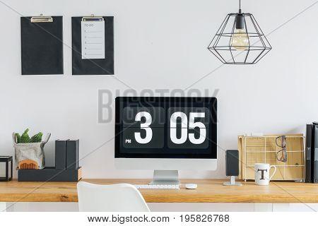 Desk Prepared For Work