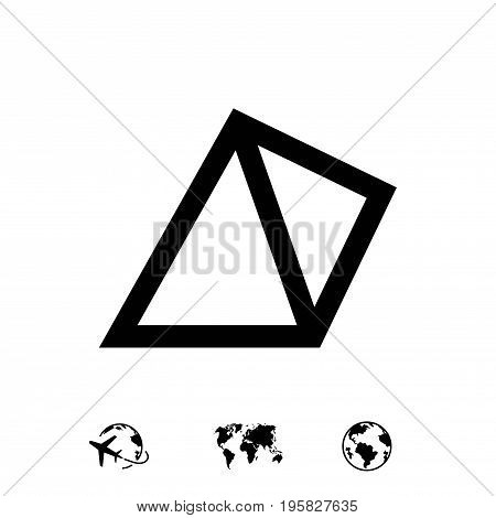 pyramid icon stock vector illustration flat design