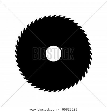 Circular Saw Blade Black Color Icon .