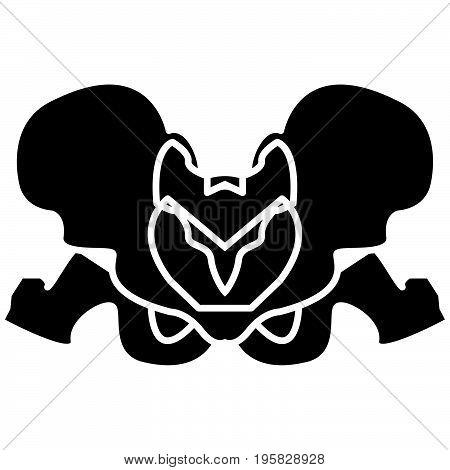 Pelvis Skeleton Black Color Icon .