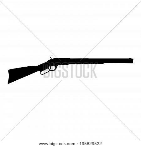 Rifle Black Color Icon .