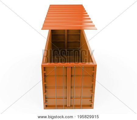 many colorful stacked Containers . 3d rendering
