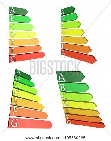 Energy consumption chart - 3D rendering -